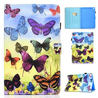 Case For Ipad 5 9.7 2017 Cover With Auto Sleep/wake Pattern Magnetic - Colorful Butterfly