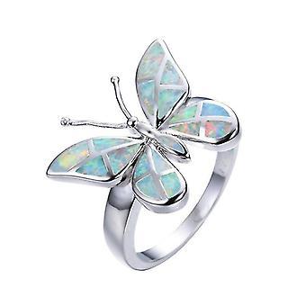 Creatieve vlinder zilveren ringen voor vrouwen(11)