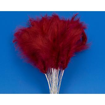 36 rojo 28cm plumas spray Picks para Floristry & Crafts