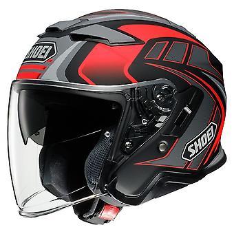 Shoei J-Cruise 2 Aglero TC1 Motorcykel Hjälm Röd