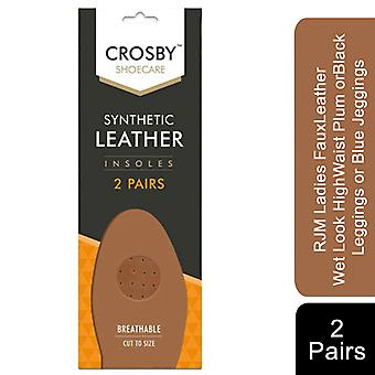 Crosby Scented Unisex Foot Lenght Insoles for Footwear, 2Pairs Leather Breath