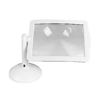 Loupe 3X Bright LED Lecture Loupe auxiliaire Loupe de bureau rotative multifonctions avec 360