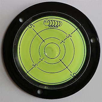 Flens cirkelvormige hoek grote geest bubble niveau (groene vloeistof) 80 mm diameter met graad markering - oppervlakteniveau, bulls eye bullseye ronde en cirkelvormige