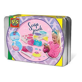 Ensemble de bijoux de savon scintillant pour enfants