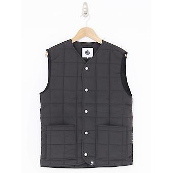 Pretty Green Ripstop Nylon Quilted Gilet - Black