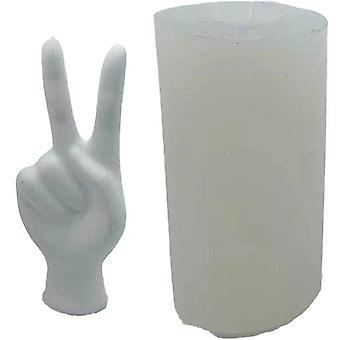 Silikonform 3d V geformte Finger DIY Seife Formen