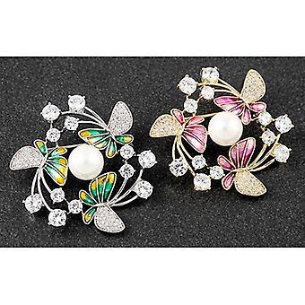Broche del Círculo de Mariposas