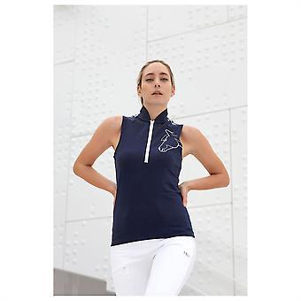 Horseware Womens Sporty Polo Shirt Short Sleeve Half Zip Top