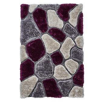 Noble House Pebbles 5858 Grey Purple  Rectangle Rugs Plain/Nearly Plain Rugs