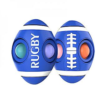 Rodent Pioneer Rugby Finger Bubble Music Decompression Toy Rotatable Fingertip Spinner Toy