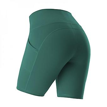 Sports Shorts For Women Cycling Running Fitness High Waist Push Up Hip Side Pocket Tight Gym Shorts Leggings