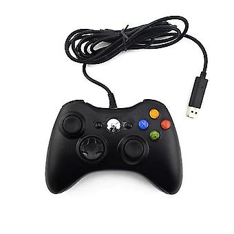المحمولة الملحقات وحدة تحكم الألعاب USB السلكية لوحة الألعاب لأجهزة إكس بوكس 360 تحكم عصا التحكم لمايكروسوفت وحدة تحكم الكمبيوتر الرسمية السوداء