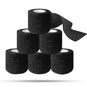 Tattoo Grip Cover Tape Schwarz Cohesive Wrap Tape Bandage Elastische Bandage Rollen