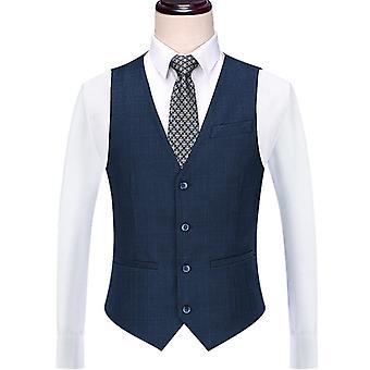 Pánský oblek Vest Slim Fit Keprové šaty Vesta