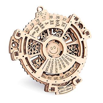 2021 New Diy Wooden Rotating Calendar 3d Puzzle Handmade Gifts (2017 ~ 2044 Can Be Searched On Any Day)