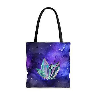 Premium polyester tote bag - crystal art #101 |small, medium, or large tote bag, gift for her, graphic tote bag, aesthetic tote, kawaii bag