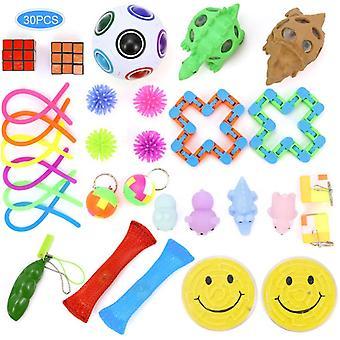 Sensory Fidget Toys Set, Stress Relief Toy Set, Adult Decompression Children's Attention