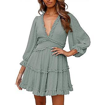 Women's Long Sleeve Dot Print Dress