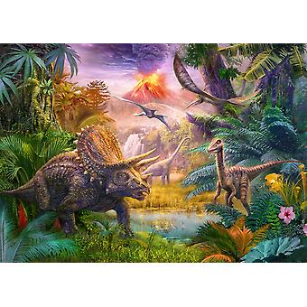 Dino Volcano Poster Print by Jan Patrick