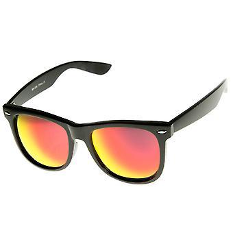 Grand classique Flash miroir couleur lentille corne Rimmed lunettes de soleil