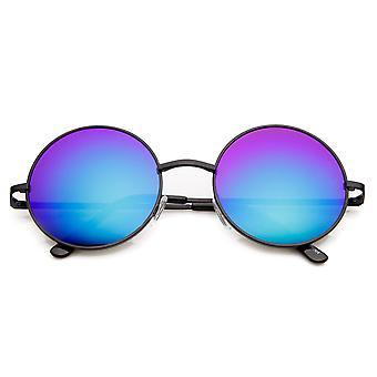 Mitte Größe Lennon Style Spiegel Objektiv Metall Runde Sonnenbrille