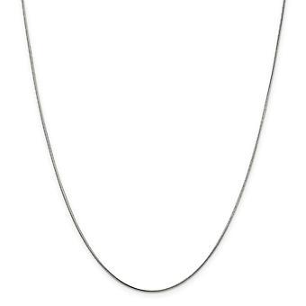 925 sterling sølv solid poleret hummer klo lukning 1mm runde slange kæde anklet-9 tommer-hummer klo