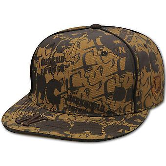 Darkncold All Over Print Fitted Baseball Cap Tan Brown