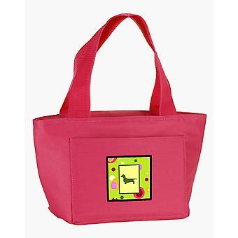 Carolines Schätze CK1024PK-8808 lindgrün Punkte Dackel Lunch-Bag