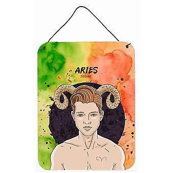 Carolines Treasures  BB7317DS1216 Aries Zodiac Sign Wall or Door Hanging Prints