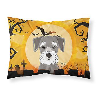 Halloween Schnauzer Fabric Standard Pillowcase