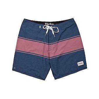 Rhythm Trim Mid Length Boardshorts in Navy