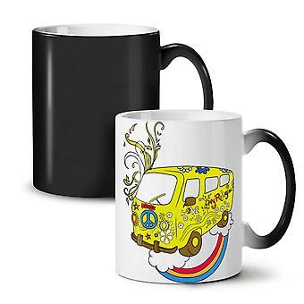Pokoju miłość 42 Rasta nowy czarny kolor zmiana herbata kawa ceramiczny kubek 11 oz | Wellcoda