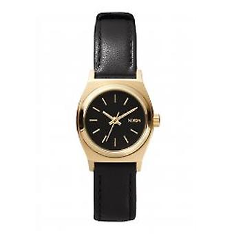 Nixon The Small Time Teller Leather Black / Gold (A509010)