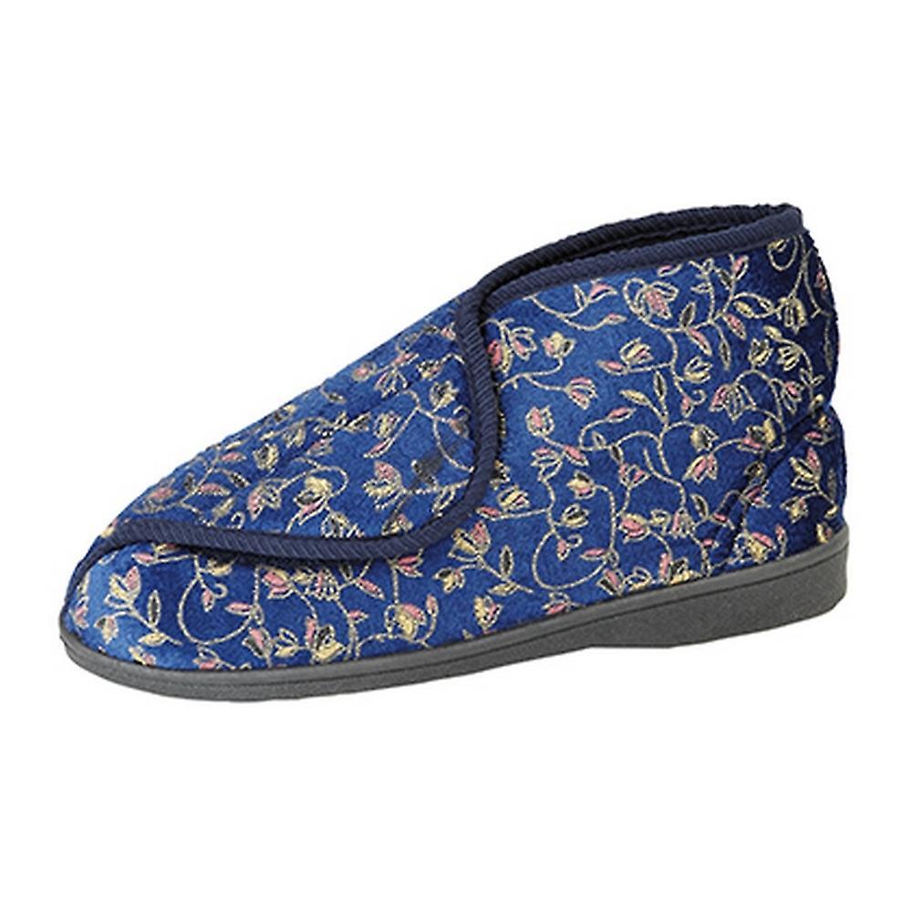 Zedzzz Womens/Ladies Geraldine Touch Fastening Floral Bootee Slippers