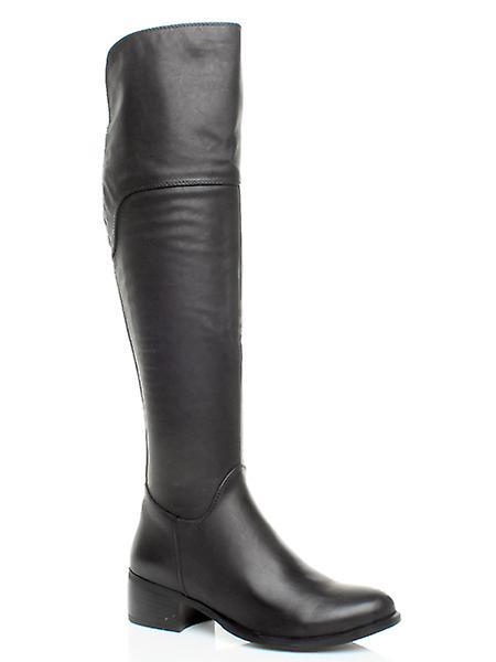 Ajvani damskie niski płaski pull pięty na buty buty chelsea stretch 57Pws