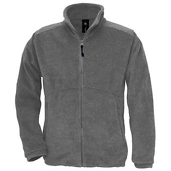 B&C Mens Icewalker Outdoor Raw Fleece Jacket with full zip