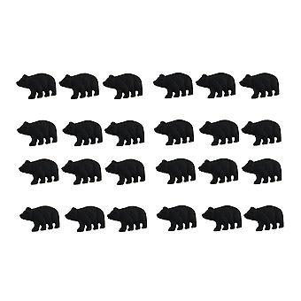 Matte Black Cast Iron Forest Bear Drawer Pull Cabinet Knob Set of 24