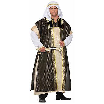 Öknen Prince Deluxe Sheik Arabian Genie Aladdin Arab Mens kostym STD