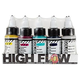Golden High Flow Acrylic Drawing Set 10 x 30ml