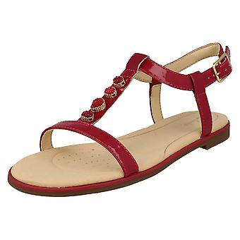 Ladies Clarks Casual Slingback Sandals Bay Blossom - Fuchsia Patent Leather - UK Size 4.5D - EU Size 37.5 - US Size 7M