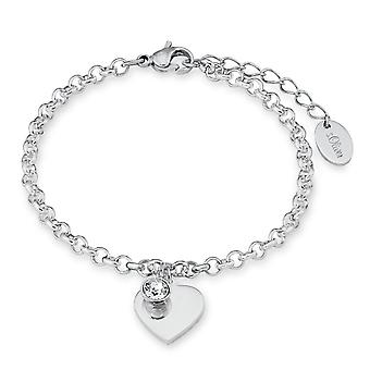 s.Oliver juweel dames armband roestvrij staal hart SO1346/1 - 9023998