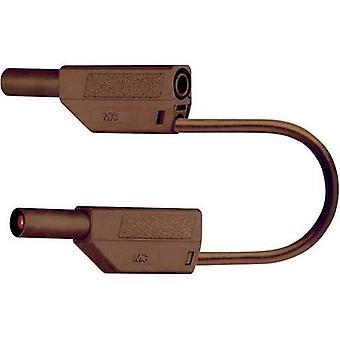 Stäubli SLK425-E Sicherheits-Messleitung [Banana jack 4 mm - Banana jack 4 mm] 0,75 m braun