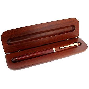 Gift tijd producten Cartridge Pen en Box - donker bruin/goud