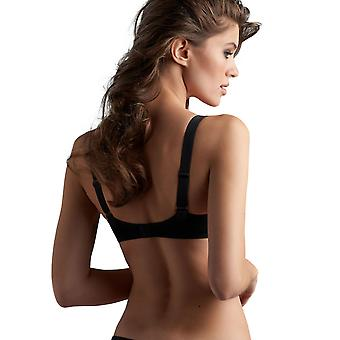 Marlies Dekkers 18407 Women's Femme Fatale Black Solid Colour Padded Underwired Half Cup Demi Cup Bra
