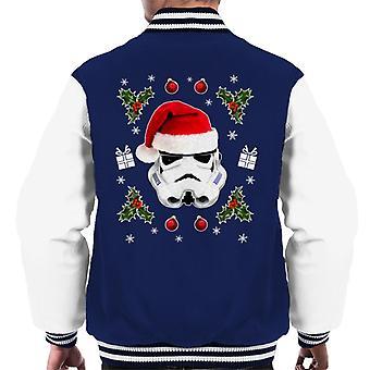 Original Stormtrooper Christmas Hat Trooper Men's Varsity Jacket