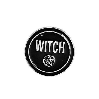 Attitude Clothing Witch Pentagram Enamel Pin