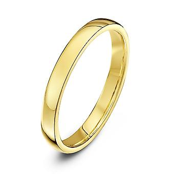 Star Wedding Rings 9ct Yellow Gold Light Court Shape 2.5mm Wedding Ring