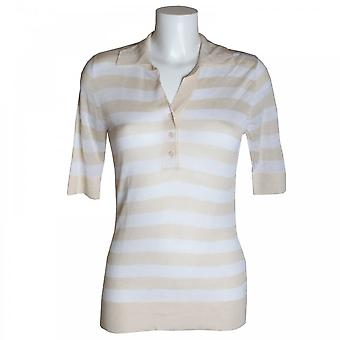 Brax Women's Stripped Short Sleeve Top