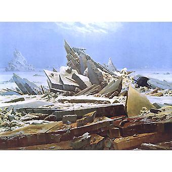 O Mar Polar, Caspar David Friedrich, 50x40cm