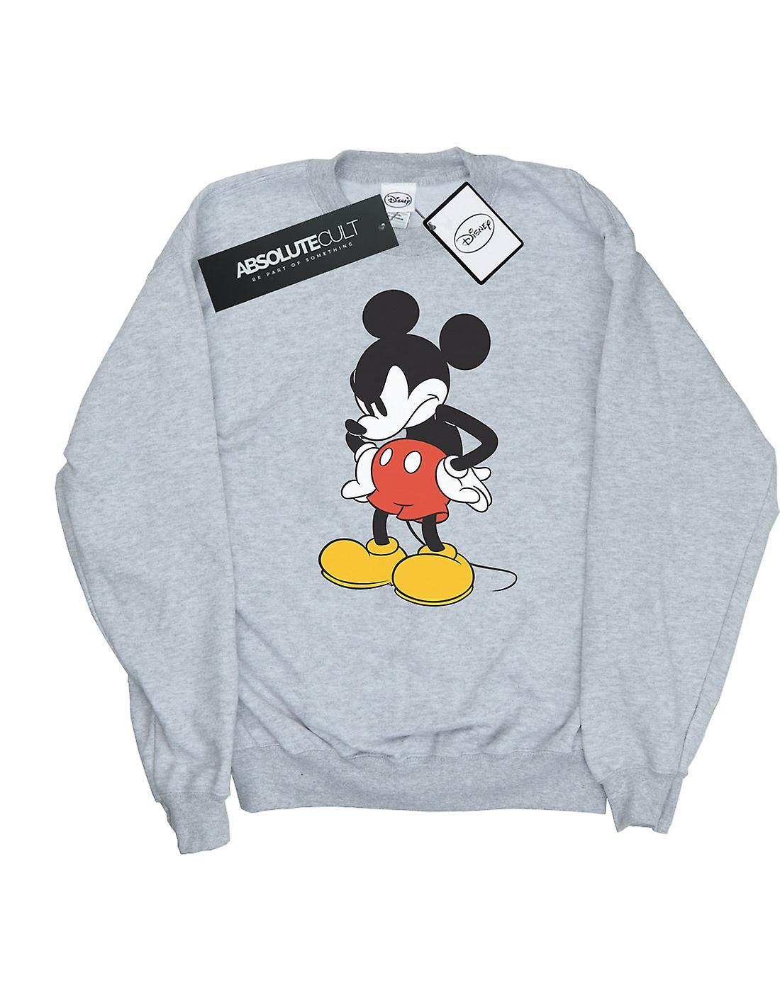 Disney Women's Mickey Mouse Angry Look Down Sweatshirt